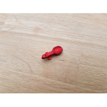 CNC aluminium bolt catch for M4 rosso