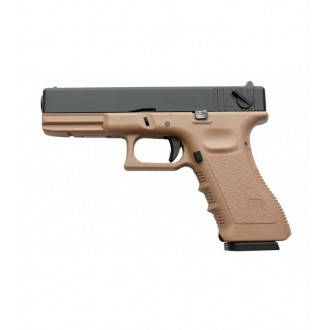 KJW KP-18 PISTOLA GLOCK G18 TAN GAS BLOWBACK