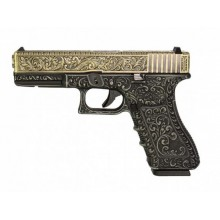 WE PISTOLA A GAS GLOCK G17 IVORY ETCHED GEN 3