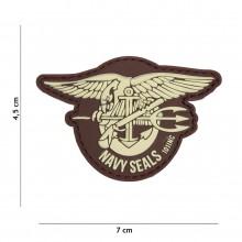 Patch 3D PVC Navy seals brown