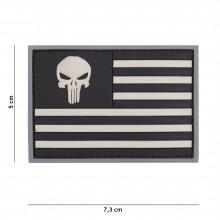 Patch 3D PVC Punisher bandiera USA