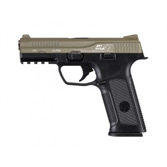ICS ALPHA PISTOLA A GAS SCARRELLANTE BLACK