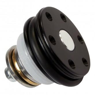 Testa pistone cuscinettata in POM con doppio o-ring e regolazione angolo di aggancio del pistone
