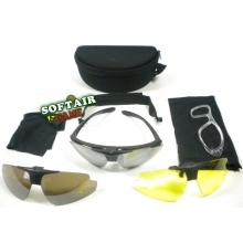 OCCHIALI SOFTAIR KIT TRE LENTI NERO
