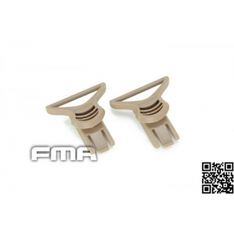 SWIVEL CLIPS TAN PER MASCHERA