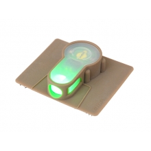 STROBE LIGHT LED GREEN S LIGHT VELCRO DESERT