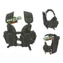 GILET TATTICO CQB ASSAULT NERO