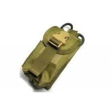 TMC Double magazine pouch w Medical scissors holder khaki